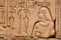 L'Egitto, Edfu, Horus Fotografia Stock Libera da Diritti