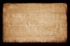 L'Egiziano canta sulla parete, grunge Fotografie Stock Libere da Diritti