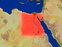 L'Egypte de l'espace en rouge Photo stock
