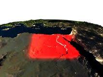 L'Egypte de l'espace la nuit Image stock