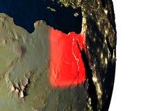 L'Egypte de l'espace pendant le crépuscule Photographie stock libre de droits