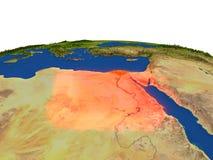 L'Egypte en rouge d'orbite Images stock