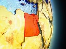 L'Egypte en rouge de l'espace Photo stock