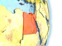 L'Egypte en rouge sur terre Photographie stock libre de droits