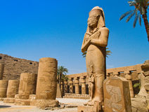 l'Egypte, Luxor, temple de Karnak photo libre de droits