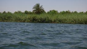 L'Egypte - rivage - rivage du Nil vu du bateau images libres de droits