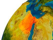 L'Egypte sur le globe Image libre de droits