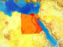 L'Egypte sur terre de l'espace illustration de vecteur