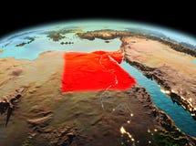 L'Egypte sur terre de planète dans l'espace Photo stock