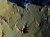 L'Egypte sur terre la nuit - fond océanique évident Photo libre de droits