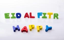 l'EL FITR du mot EID écrit avec les lettres colorées Images stock