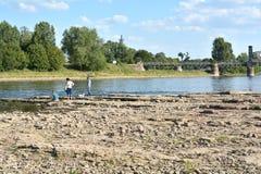 L'Elbe près de Magdebourg Images stock