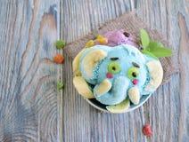 L'elefante è fatto del gelato Immagine Stock