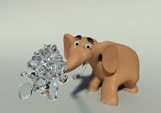 l'elefante 3D getta l'acqua illustrazione vettoriale