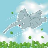 L'elefante di volo Fotografia Stock Libera da Diritti