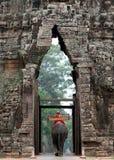 L'elefante esce Angkor Wat Fotografie Stock
