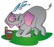 L'elefante fa l'acquazzone Illustrazione di Stock