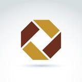 L'elemento corporativo composito luminoso ha creato da geometr separato illustrazione di stock