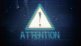 L'elemento ed il pixel del pirata informatico diffondono l'impulso errato con l'attenzione dell'iscrizione archivi video