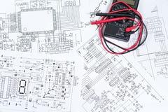L'elettrico ed elettronico Fotografia Stock