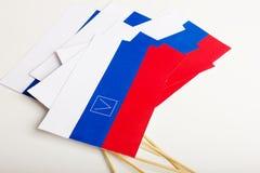 L'elezione di piccola bandiera di carta fotografie stock
