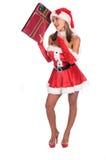 L'elfe curieux de Santa photographie stock
