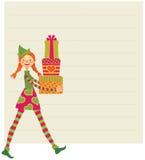 L'elfe souhaite le Joyeux Noël Photographie stock libre de droits
