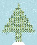 L'elfo di Santa che fa l'albero di Natale Fotografie Stock Libere da Diritti