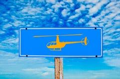 L'elicottero del segno Fotografia Stock Libera da Diritti