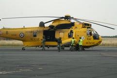 L'elicottero di Seaking, militare cerca e salva sull'aerodromo immagine stock
