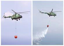 L'elicottero estingue il fuoco Fotografia Stock Libera da Diritti