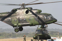 L'elicottero militare dell'Indonesia Fotografia Stock