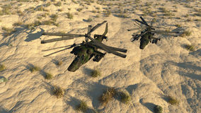 L'elicottero russo di combattimento Fotografia Stock Libera da Diritti