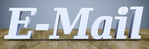 l'email de mot sur une table en bois illustration de vecteur