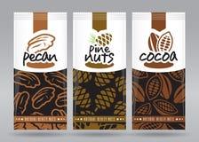 L'emballage Nuts a placé 3 Photo libre de droits