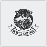 L'emblème avec le loup Images libres de droits