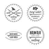 L'emblema praticante il surfing ha messo 1 Immagini Stock Libere da Diritti