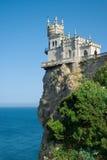 L'emboîtement de l'hirondelle bien connue de château Photo libre de droits