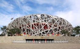 L'emboîtement de l'oiseau célèbre à Pékin, Chine Photo libre de droits