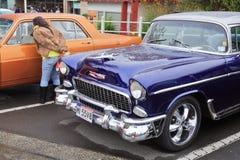 L'embout avant de Chevrolet 1955 Bel Air photographie stock libre de droits