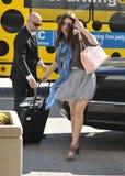 l'Emmy Rossum d'actrice est vu à l'aéroport de LAX Photo stock