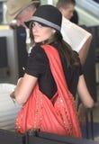 l'Emmy Rossum d'actrice est vu chez LAX Photo libre de droits