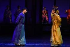 L'empereur et les impératrices prince-désillusion-modernes de drame dans le palais Images libres de droits
