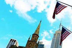 L'Empire State Building è un grattacielo nello stile di art deco di città di New-York fotografie stock