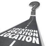 L'emplacement d'emplacement d'emplacement exprime la destination de route Image libre de droits