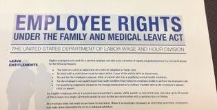 L'employé redresse Bill photo libre de droits