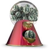 L'emprunt facile de prêt de distributeur de machine de boule de gomme d'argent finance le crédit Image libre de droits