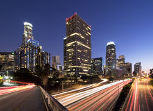 L.A. en la noche fotos de archivo libres de regalías