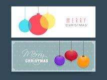 L'en-tête ou la bannière de site Web a placé pour la célébration de Noël Photographie stock