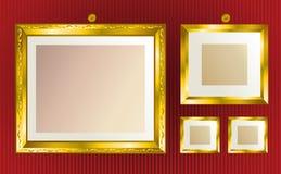 L'or encadre le fond Photos stock
